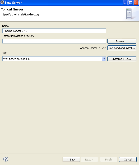 how to download tomcat server in eclipse