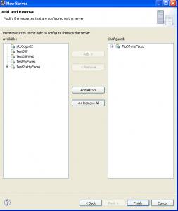 In questo pannello selezioniamo le applicazioni di cui fare il deploy sul Server