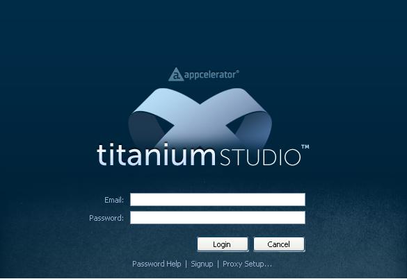 Sviluppare App utilizzando il Titanium Studio